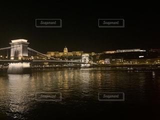風景,夜景,景色,観光,旅行,海外旅行,ブダペスト,ドナウ川,くさり橋,ブダ城,ブダ王宮