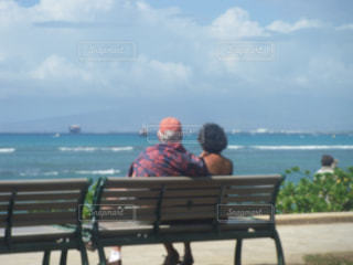 海,カップル,海外,夫婦,ハワイ,海外旅行
