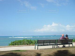 海,カップル,海外,夫婦,ハワイ