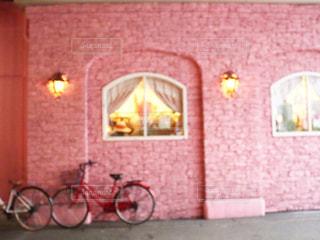 レンガ造りの建物のクローズアップの写真・画像素材[2169723]