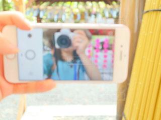 夏,カメラ,自撮り,女,スマホ,スマートフォン,一眼,ケータイ