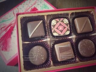 チョコレートのペアの写真・画像素材[2937544]