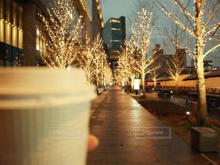 コーヒー,イルミネーション,明るい,グランフロント,シャンパンゴールド