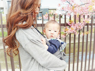子ども,家族,2人,花,桜,散歩,花見,サクラ,お花見,人,赤ちゃん,幼児,ベビー,お散歩,ママ,河津桜,おでかけ,さくら,少し