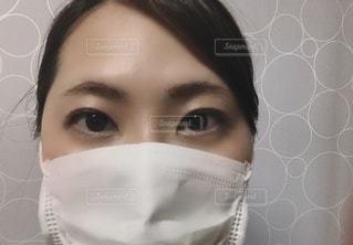 マスク女子の写真・画像素材[3537934]