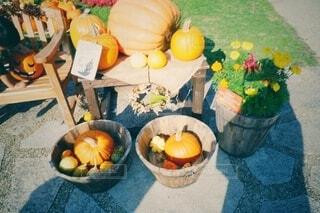 テーブルの上にオレンジのボウルの写真・画像素材[3781090]