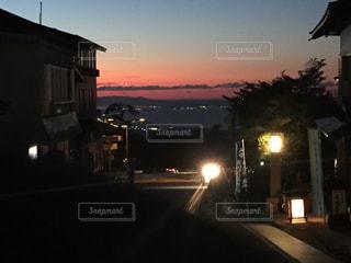 秋,街並み,夕焼け,田舎,景色,オレンジ,大山,鳥取県
