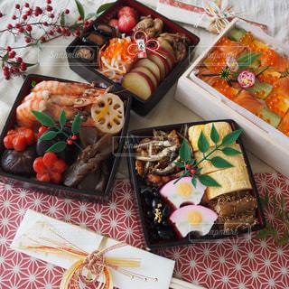 おせち料理のテーブルフォトの写真・画像素材[1727011]