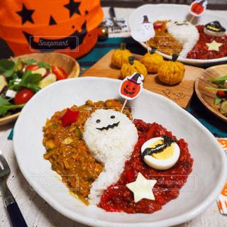 食べ物,おうちごはん,食卓,家,イベント,ハロウィン,かぼちゃ,カレー,料理,パーティー,おばけ,行事,おばけカレー