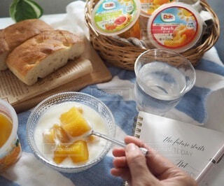 食べ物,朝食,マンゴー,デザート,ヨーグルト,フルーツヨーグルト,ヘルシーおやつ,フルーツカップ