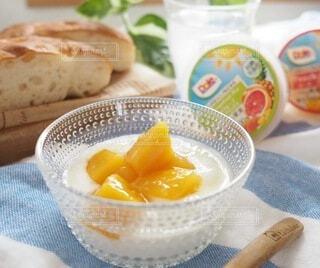 食べ物,朝食,マンゴー,デザート,果物,ヨーグルト,フルーツヨーグルト,フルーツカップ