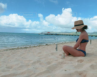 女性,自然,海,空,海外,ビーチ,砂浜,水着,海岸,人,浜辺,旅行,グアム,sea,海外旅行,ココス島,休暇,航海,フォトジェニック