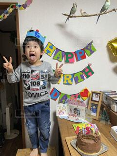 5歳の誕生日の写真・画像素材[4017278]