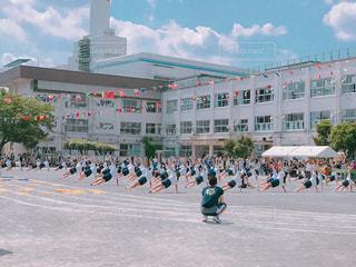 運動会の組体操の写真・画像素材[1530931]