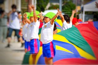 子ども,スポーツ,屋外,カラフル,景色,鮮やか,人物,人,運動,運動会,団体