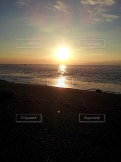 海,空,太陽,朝日,海岸,光,初夏,駿河湾,三保海岸