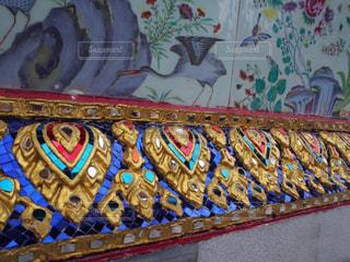 海外,カラフル,絵,旅行,タイ,寺院,海外旅行