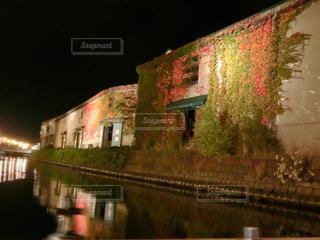 建物,秋,夜,紅葉,もみじ,北海道,小樽,クルーズ,小樽運河
