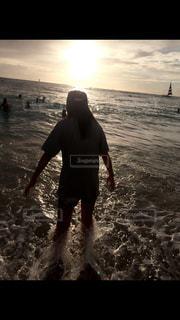海,夕日,太陽,未来,ハワイ,Hawaii,ワイキキ,夢,ポジティブ,ワイキキビーチ,可能性