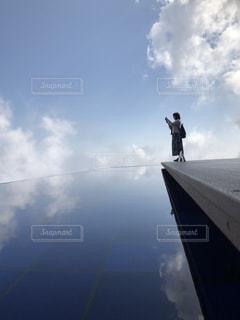水 鏡の写真・画像素材[2678599]