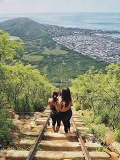 自然,絶景,スポーツ,海外,世界の絶景,山道,トレッキング,登山,旅行,ハワイ,運動,ハイキング,オアフ島,海外旅行,友情,友達,山登り,ココヘッド,スポーツの秋