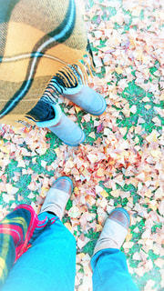 今年初のブーツ履いての写真・画像素材[1624253]