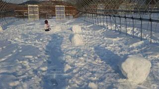 1人,雪,白,子供,女の子,雪遊び,ホワイト,島根県,ホワイトカラー,三井野原スキー場