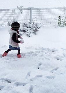 雪遊びに夢中♬︎♡の写真・画像素材[1740958]