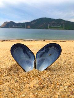 海,空,砂,ビーチ,雲,島,砂浜,貝殻,ハート,浜辺,貝,♡