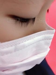 アップのマスク女子の写真・画像素材[2653099]