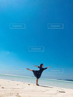海,空,ビーチ,海岸,運動,はての浜