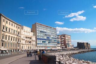 海,屋外,ヨーロッパ,景色,観光,旅行,欧州,イタリア,快晴,海外旅行,ナポリ