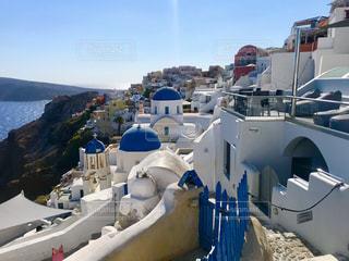 風景,白,青,観光,旅行,ギリシャ,フォトスポット,サントリー二島