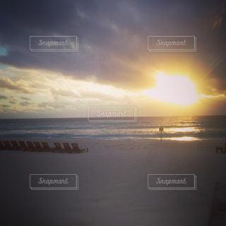 海,ビーチ,夜明け,朝焼け,カリブ海,ポジティブ,新しい1日