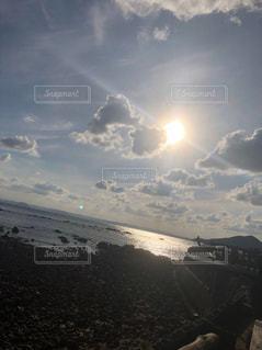 海岸,光,希望