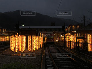 友禅の光林のライトアップの写真・画像素材[1667351]