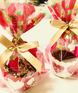 スイーツ,いちご,ハート,リボン,チョコレート,バレンタイン,装飾,ガトーショコラ,チョコ,手作り,ギフト,ラッピング