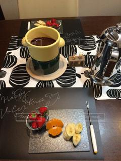 屋内,テーブル,フルーツ,チョコ