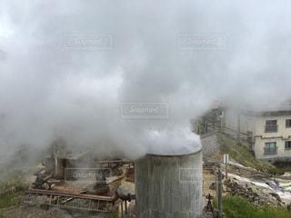 温泉,煙,煙突,九州,ホワイト,源泉,霧島,白っぽい