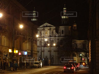 風景,夜,屋外,旅行,旅,ポーランド,海外旅行,古都,映画