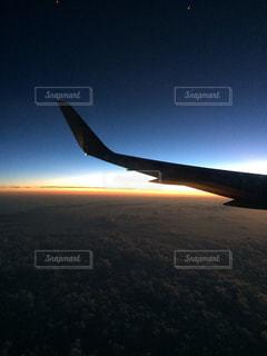 風景,空,飛行機,夜明け,未来