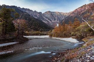 秋,絶景,紅葉,川,景色,長野県,上高地,アルペンルート