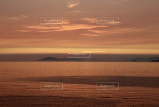夕空と海の写真・画像素材[1860900]