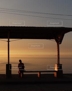 夕陽の写真・画像素材[2129942]