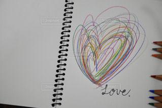 LOVE,カラフル,ハート,可愛い,色鉛筆,ラブ,落書き,色えんぴつ,ファンシー,スケッチブック