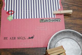 封筒とハンコの写真・画像素材[2175815]