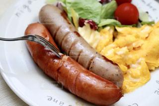朝食,サラダ,洋食,ウインナー,朝ごはん,スクランブルエッグ,モーニング,ソーセージ,朝ご飯,ウィンナー,朝御飯