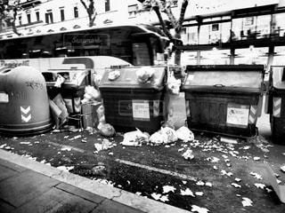 海外,ローマ,歩道,イタリア,ゴミ