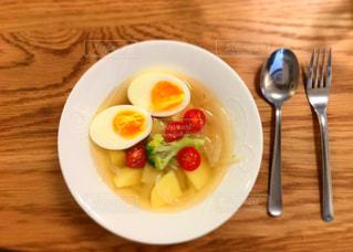 家庭料理,黄色,スープ,料理,玉子