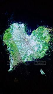 自然,空,緑,雲,ハート,グリーン,みどり,♡,屋久島,マーク,ウィルソン株,そら,❤︎